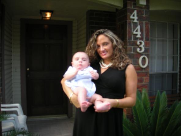 Joni and Baby Julian at Grandma Suzi's House in Spring 2007
