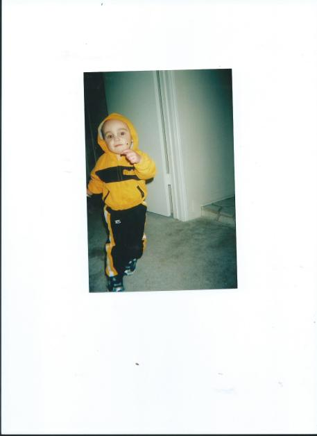 JULIAN IN STEELERS TRACK SUIT FROM AUNT RUTHIE (GILLILAND-THOMAS)