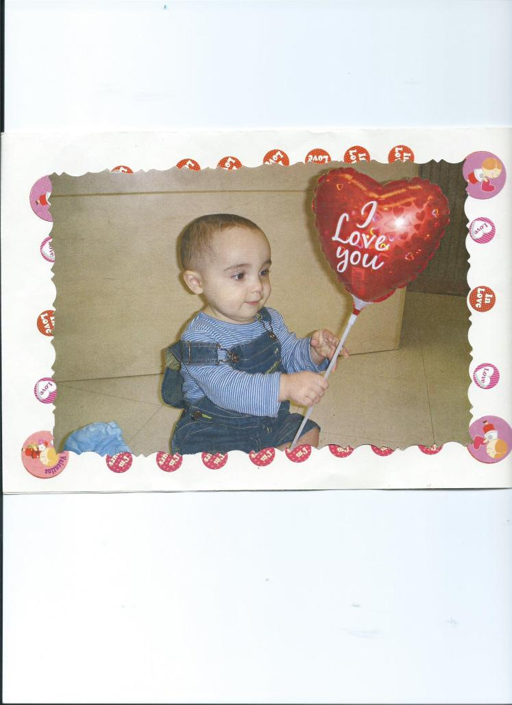 JULIAN'S VALENTINE'S DAY CARD TO MOMMY.FEB.14, 2008.13 MOS. OLD.CHILD TIME 001