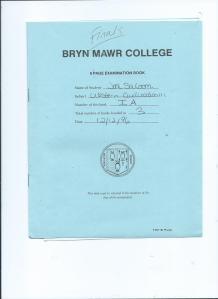 Bryn Mawr College Finals. Western Civilization.12.12.1996 001