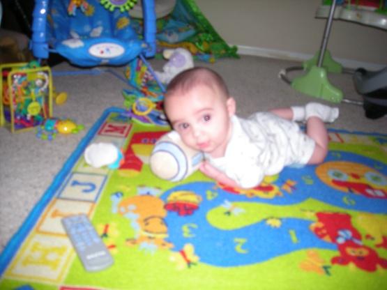Football Baby 1 on Play Rug