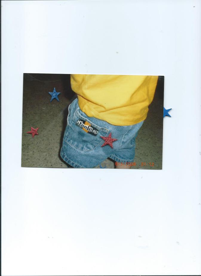 Grandma Sue Sewed Your Steelers patch onto your denim shorts.06.03.08