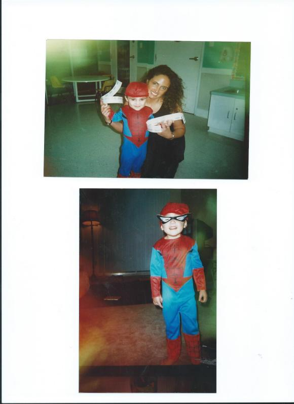 JULIAN STARRING AS SPIDER-MAN...AND MOMMY