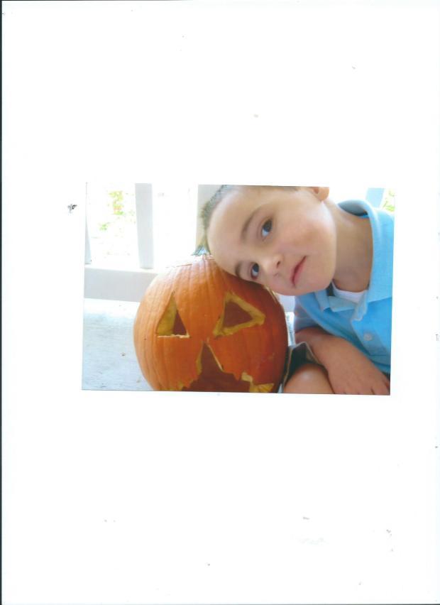 Julian with Pumpkin.Oct.2011