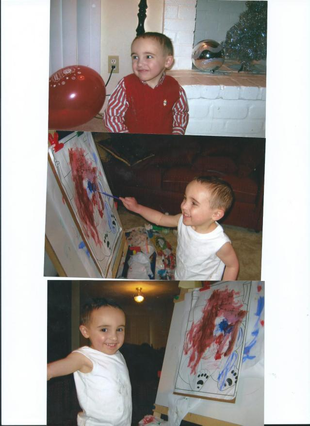JULIAN'S ARTWORK.AGE 4.PEARLAND.TX.AND 2010 BIRTHDAY