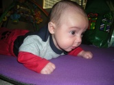 Baby Julian, Learning to Crawl