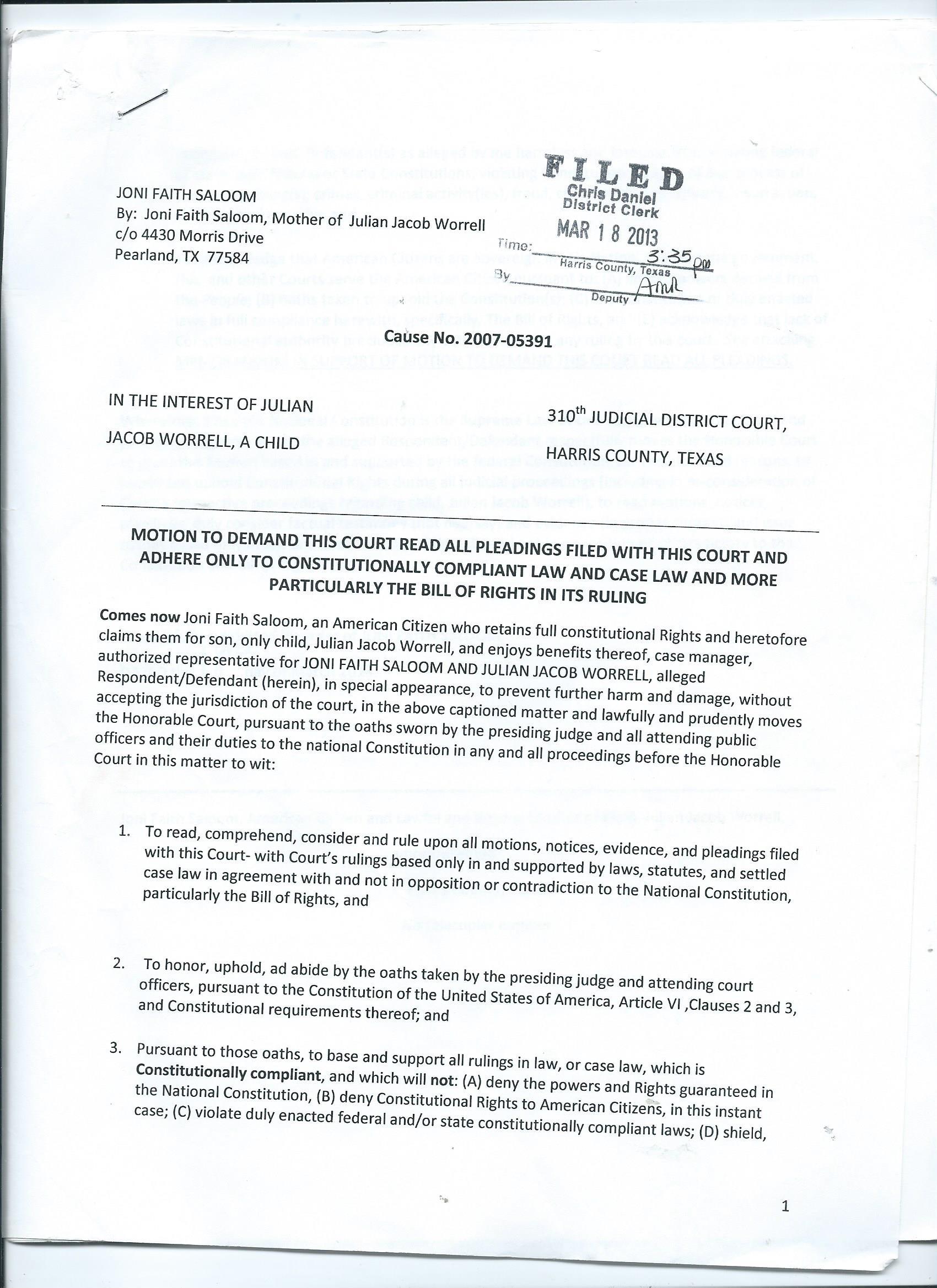 application for amendment of pleadings