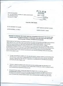Motion to Demand Court Read All Pleadings Page 1 of 8
