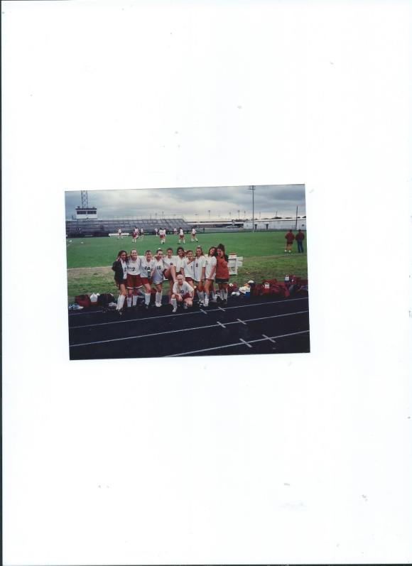 Pearland High School Girl's J.V. Soccer Team, Mommy on the End