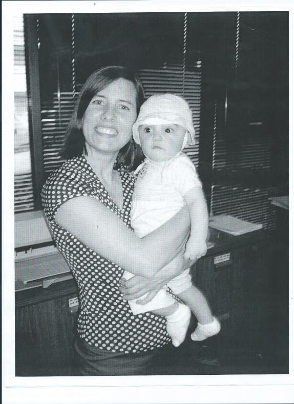 SARAH LONGLEY HOLDING BABY JULIAN.9 MOS. OLD 001