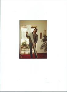 UNCLE TIMMY WITH GIANT ICICLE.1984