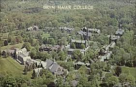bryn mawr college.panoramic view with name