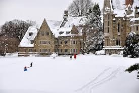 bryn mawr college.snowy winter