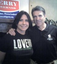amy charron with rick perry