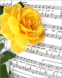 yellow rose of Texas with sheet music